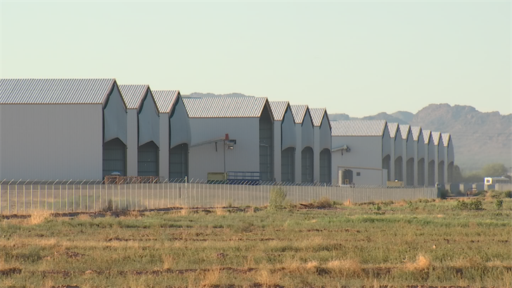 Hickman's Tonopah farm houses four million chickens in about a dozen large hen houses. It is mostly automated, but also employs about 80 people.