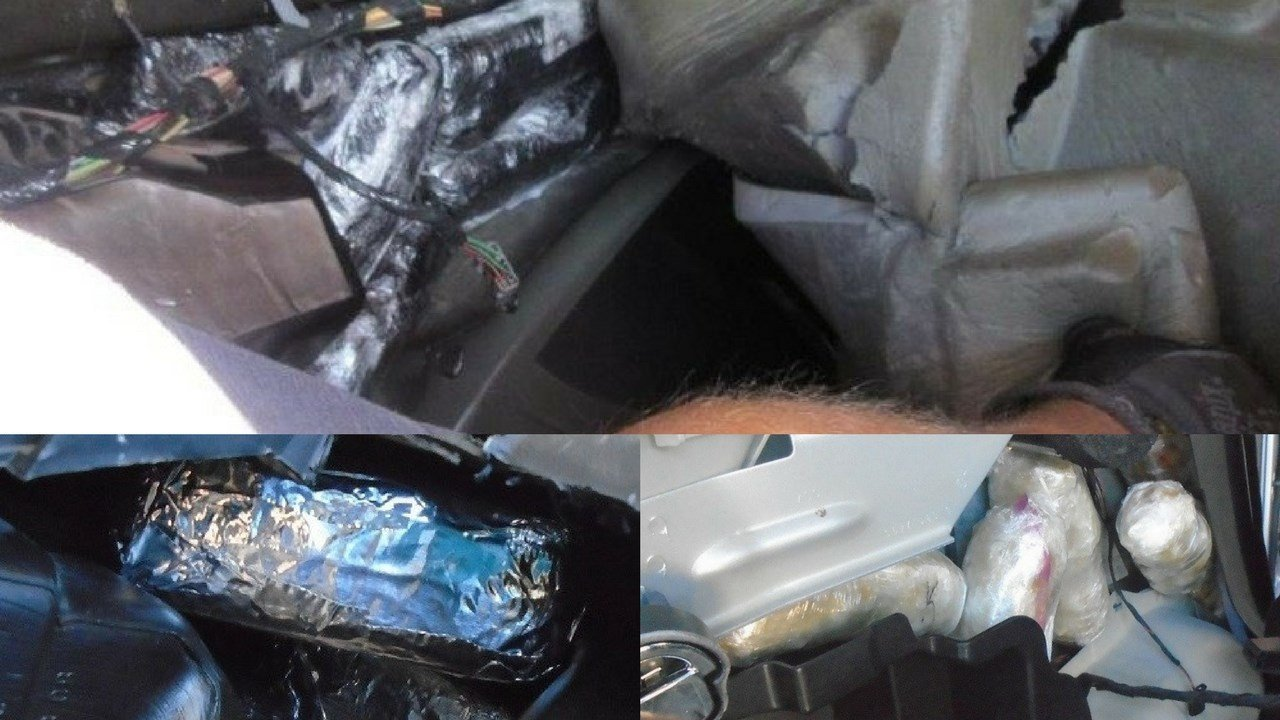 Two Mexican nationals and two U.S. citizens were arrested by U.S. Customs and Border Protection officers at Arizona's Port of Nogales attempting to smuggle approximately $658,000 worth of cocaine and methamphetamine. (Source: 3TV/CBS 5)