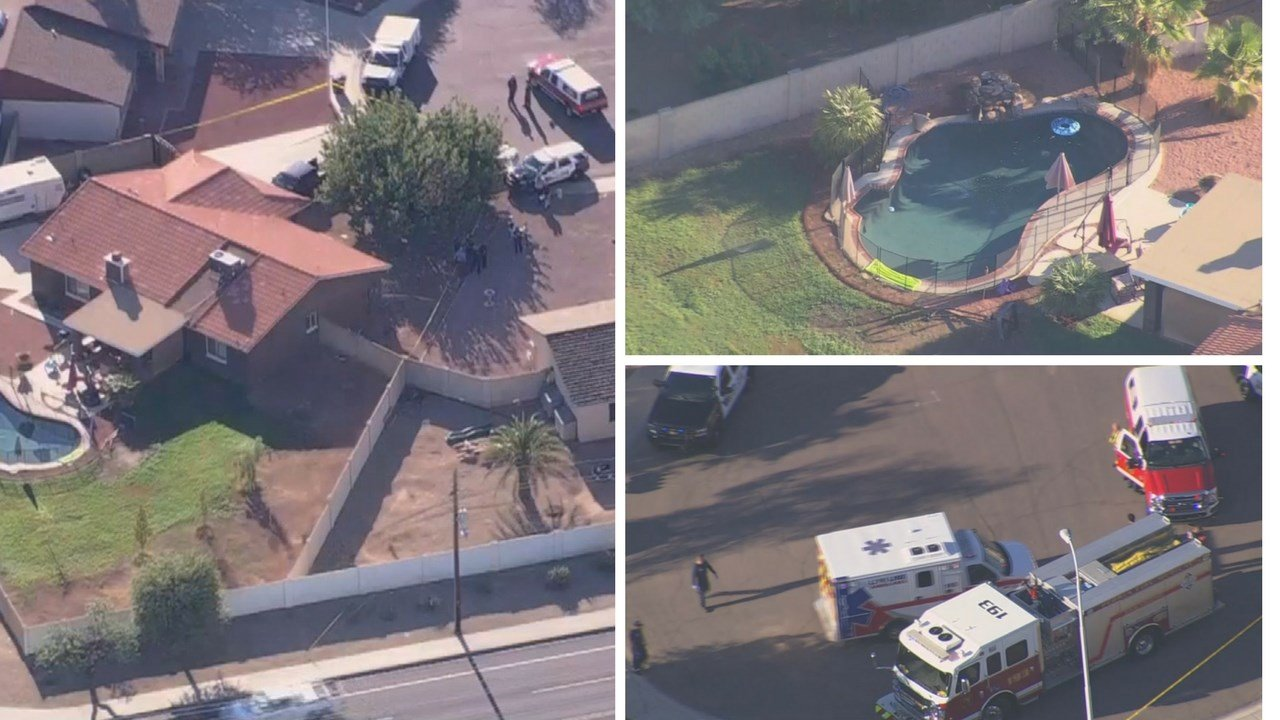 Peoria police say the 1-year-old girl was pulled from a residential pool and transported to the hospital. (Source: 3TV/CBS 5)