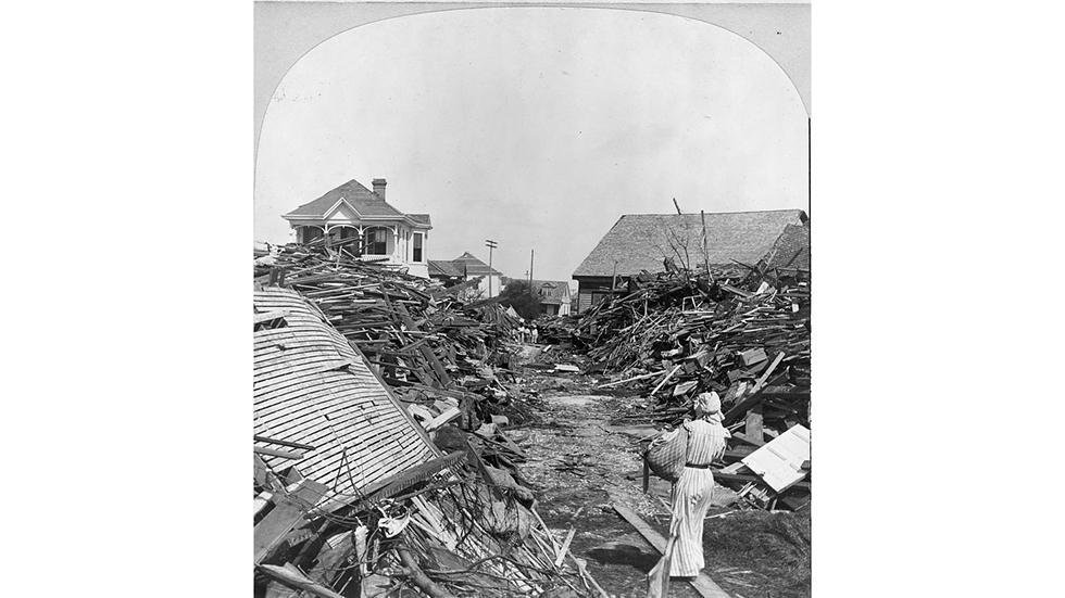 Aftermath of Hurricane of 1900 that hit Galveston, Texas. (Source: Library of US Congress)