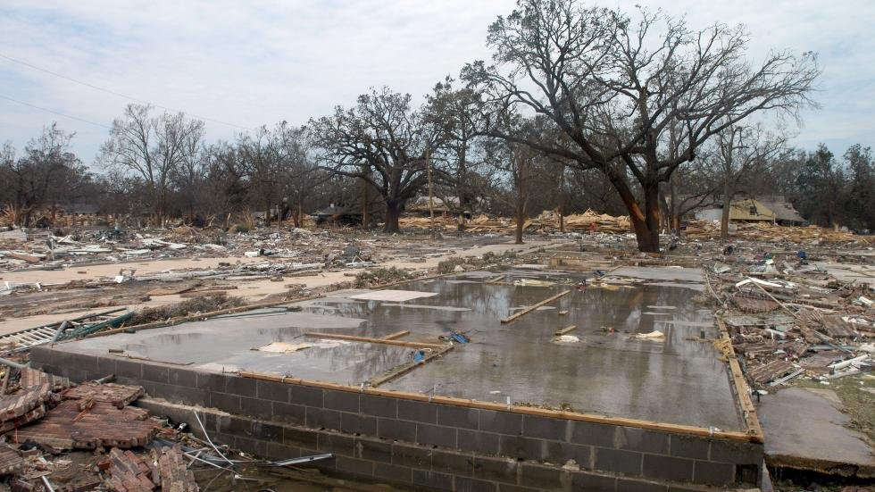 Look at the damage left in Louisiana after Hurricane Katrina. (Source: Weather.com)
