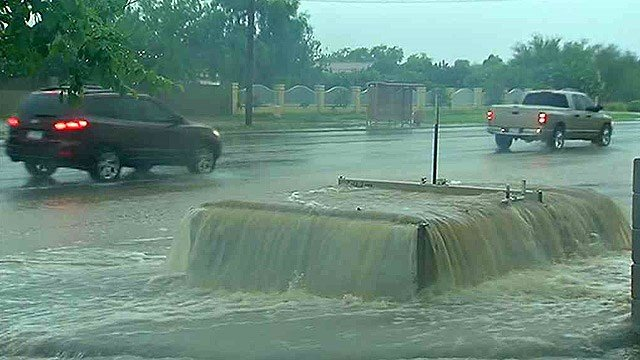 Flooding in Mesa on Sept. 5, 2014 (Source: 3TV/CBS 5 file photo)