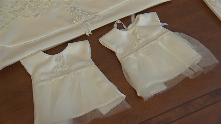 The transformed dresses are donated to hospitals around the Valley. (Source: 3TV/CBS 5)