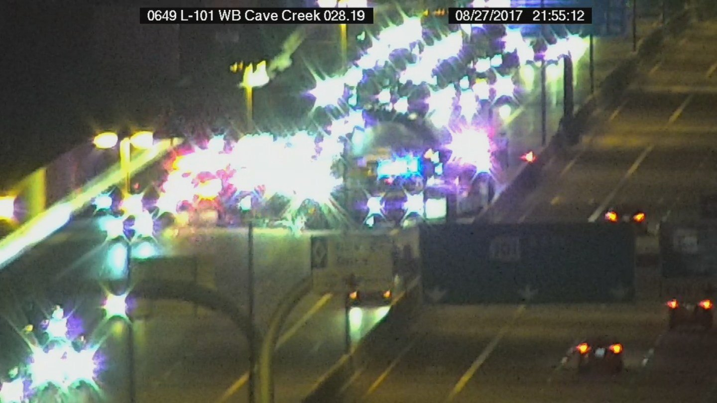 All lanes were reopened just before 1:00 a.m. Monday morning. (Source: ADOT)