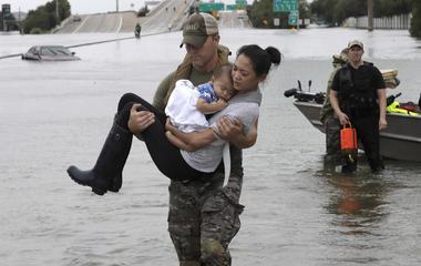 Hurricane Harvey flooding. (Source: CBS News)
