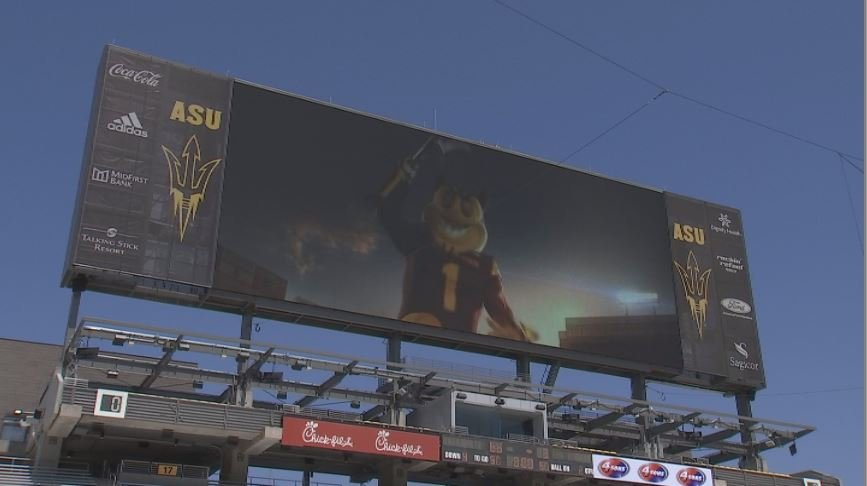 ASU unveils it's new state of the art scoreboard