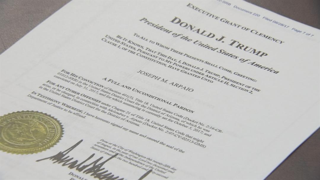 Trump announced the pardon of Arpaio last week. (Source: 3TV/CBS 5)