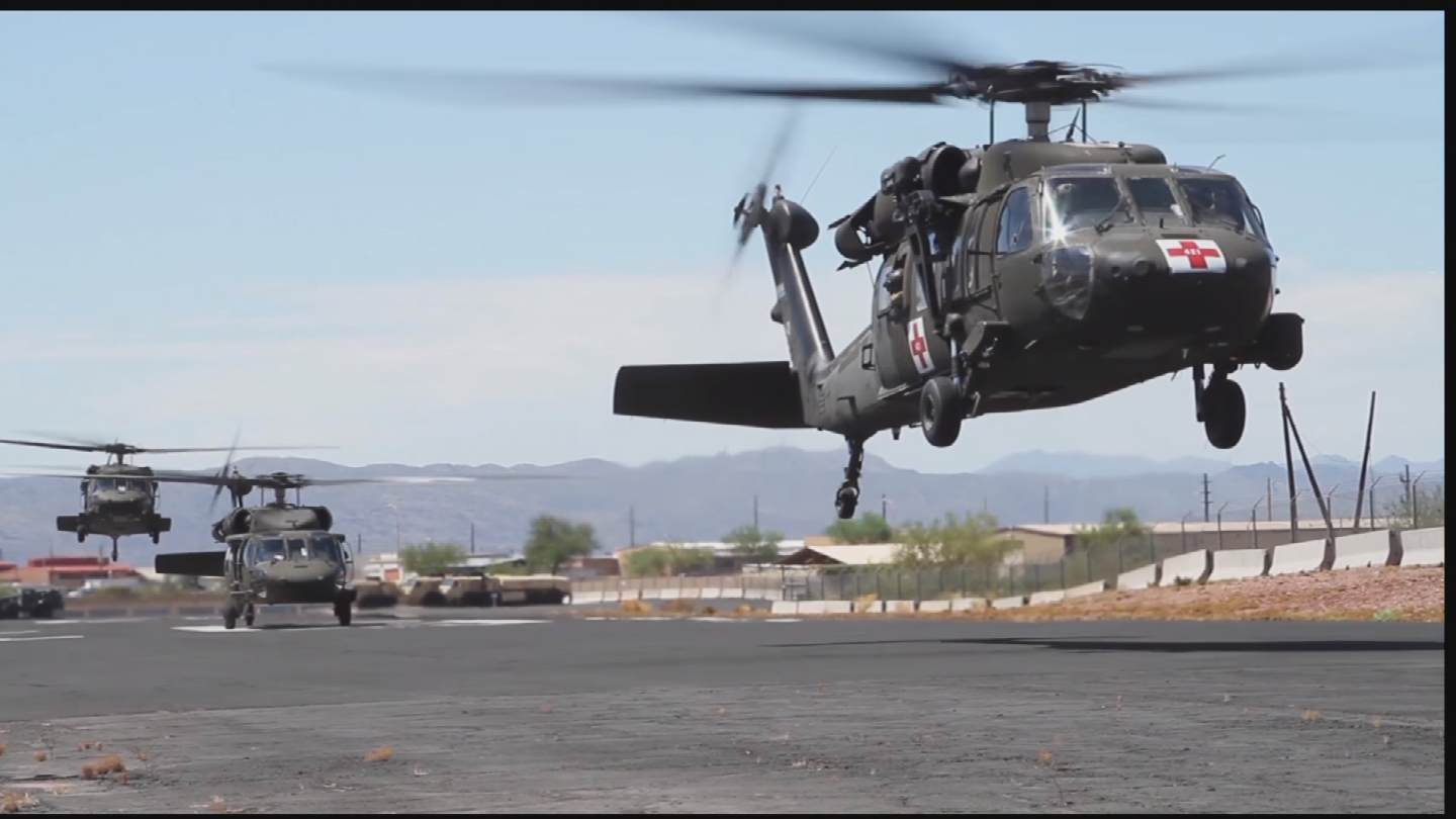 The Arizona National Guard members who went received their first mission Monday morning, to get emergency supplies to residents of Galveston. (Source: 3TV/CBS 5)