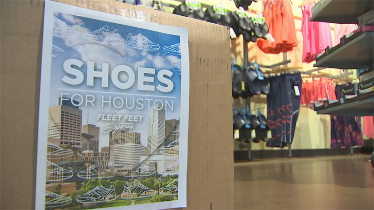 Fleet Feet is asking people to drop off the shoes and socks for the next two weeks at their stores around the Valley. (Source: 3TV/CBS 5)
