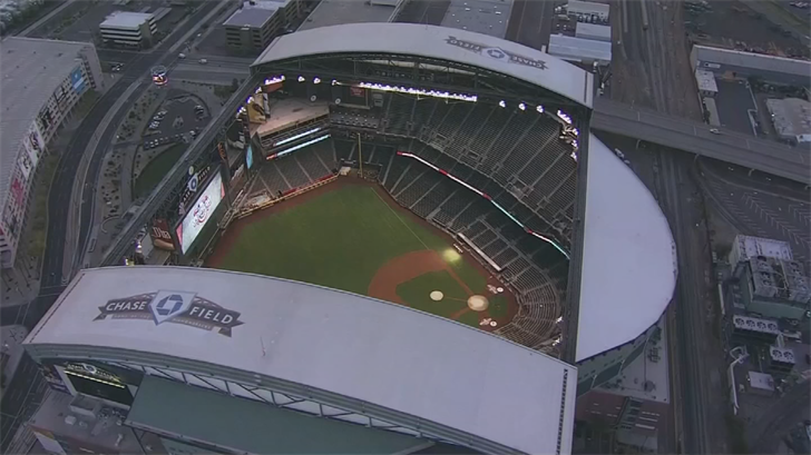 Chase Field has the second-highest altitude in MLB. (Source: 3TV/CBS 5)