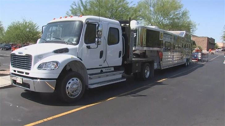 Supplies were loaded into this trailer in Mesa. (Source: 3TV/CBS 5)