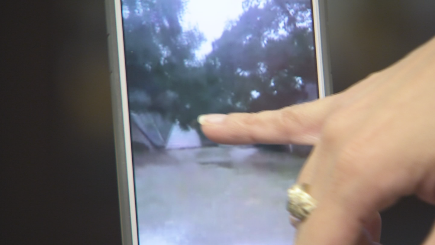 She has a video of her father's neighborhood in Houston, which has been flooded out from the heavy rain. (Source: 3TV/CBS 5)