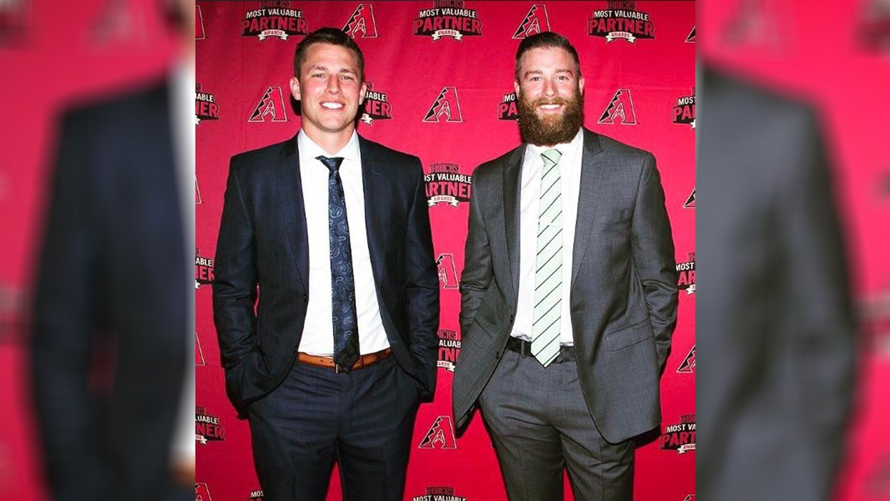 D-backs Archie Bradley and Jake Lamb are teammates and housemates. (Source: www.instagram.com/archiebradley7)