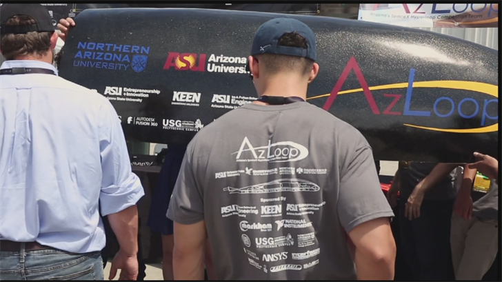 A team of Arizona State University engineering students said they could have won the Space-X Hyperloop competition. (Source: 3TV/CBS 5)