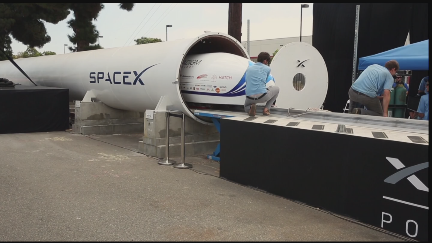Organizers only had time to give three teams' pods a test run and ran out of time to test the ASU pod. (Source: 3TV/CBS 5)