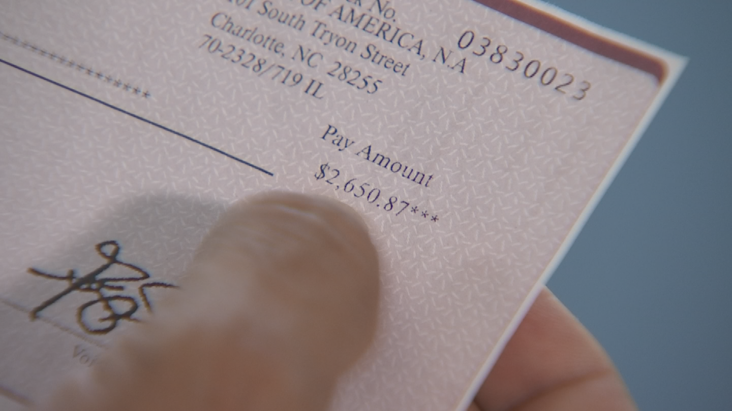 Matin used his smartphone to deposit the $2,650 check into his Chase bank account and then put cash into a different account. (Source: 3TV)