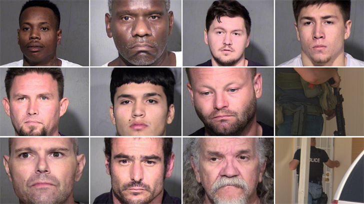 Mugshots of the top 10 offenders. (Source: Maricopa County Sheriff's Office)
