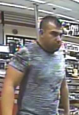 One of the men is described as a Hispanic man in his 30s wearing a gray shirt and blue jean shorts. (Source: Mesa PD)