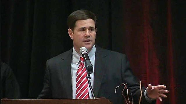 Arizona Gov. Doug Ducey on Tuesday said his support for former Maricopa County Sheriff Joe Arpaio shouldn't be read as a slap in the face of the state's Latino voters. (Source: 3TV/CBS 5 file photo)