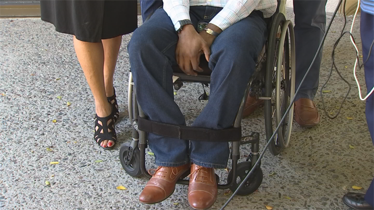 Stokes said his injuries are so bad that he's in a wheelchair. (Source: 3TV/CBS 5)
