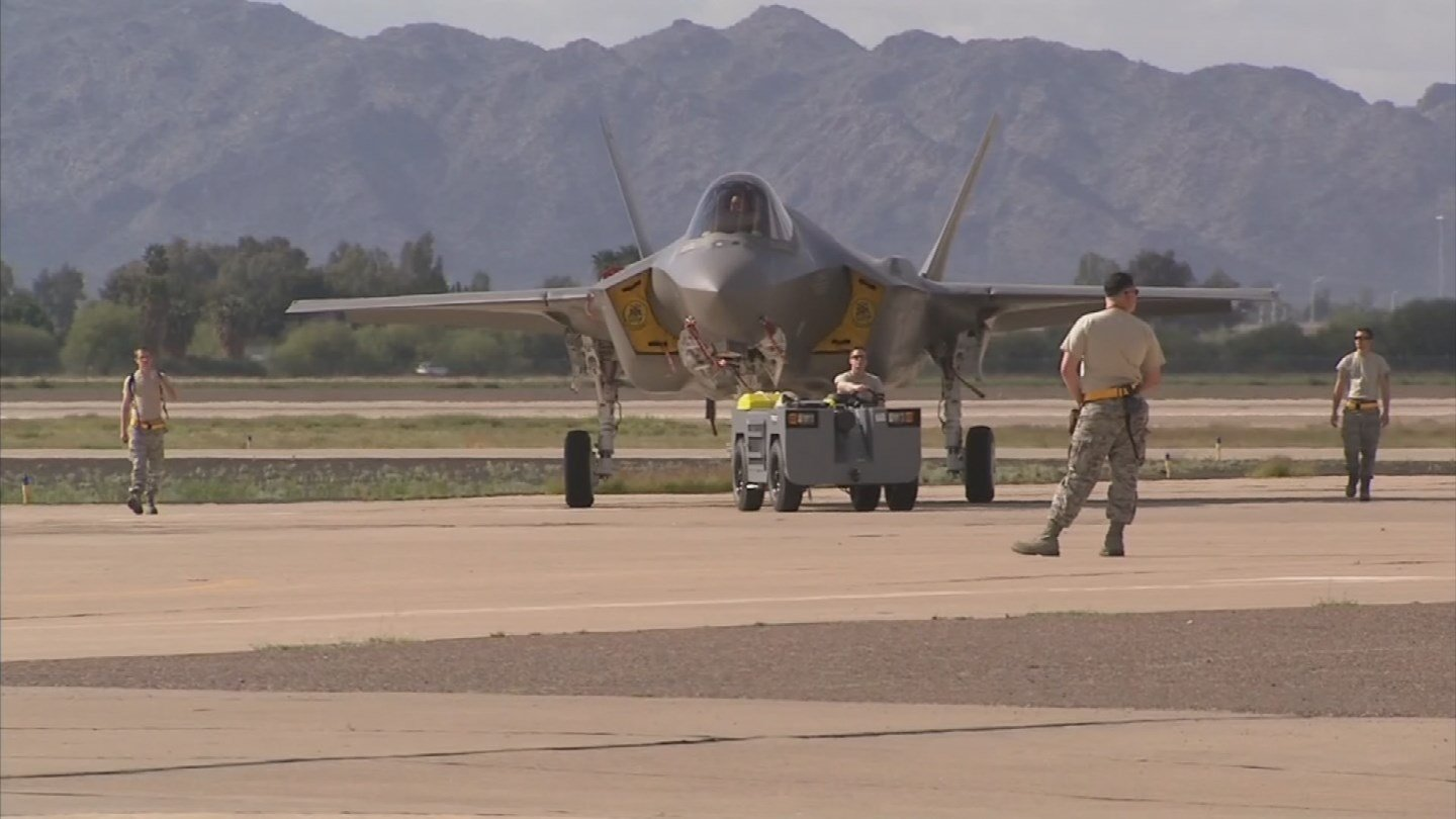 Luke Air Force Base officials say they have ended altitude restrictions on their F-35 fighter jets put in place after several pilots reported symptoms of oxygen deprivation. (Source: 3TV/CBS 5)