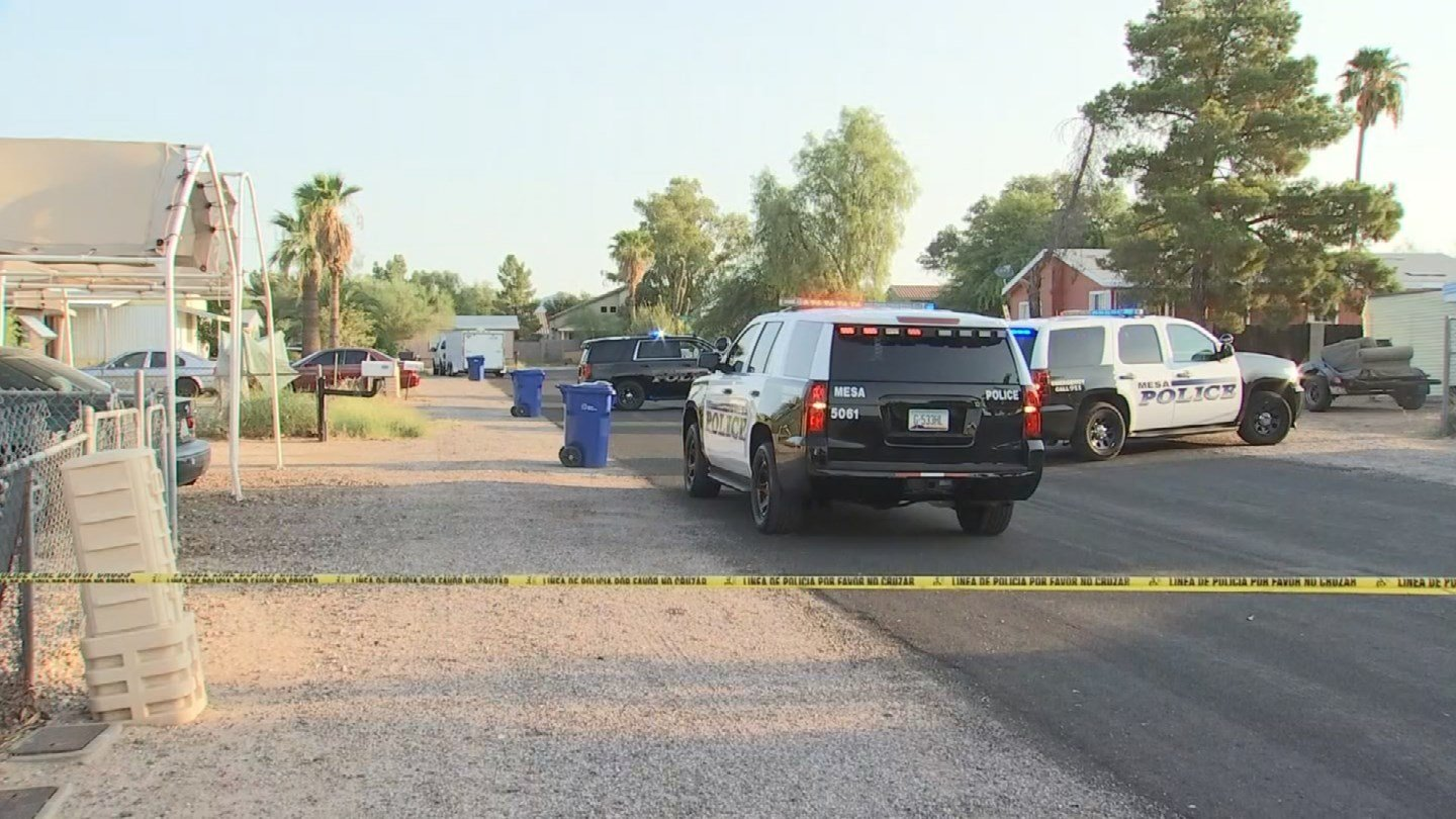Mesa police are investigating after a man was shot in the face by a pellet in Mesa. (Source: 3TV/CBS 5)