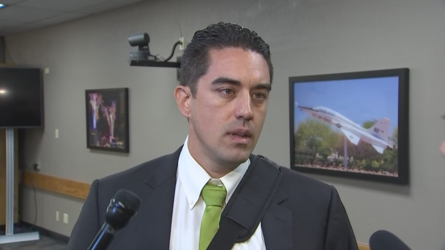 Ryan Winkle reacts to losing his seat on the Mesa City Council on August 31. (Source: 3TV/CBS 5)