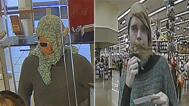 Police said the robber wears a scarf and sometimes uses a note to demand money. (Source: Tempe Police Department)