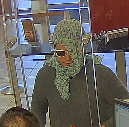 Police said he wore this scarf in three of the four robberies. (Source: Tempe Police Department)