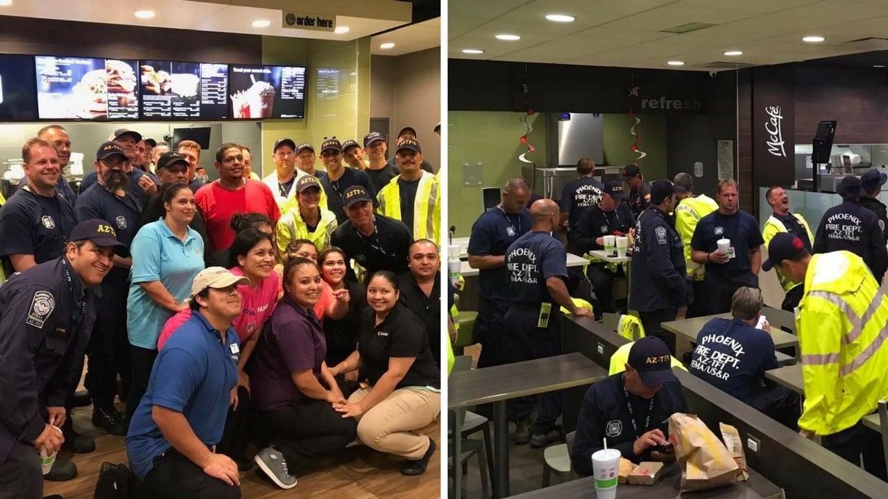 AZ-TF 1 at Loves Truck Stop McDonalds. (Source: Phoenix Fire Dept.)