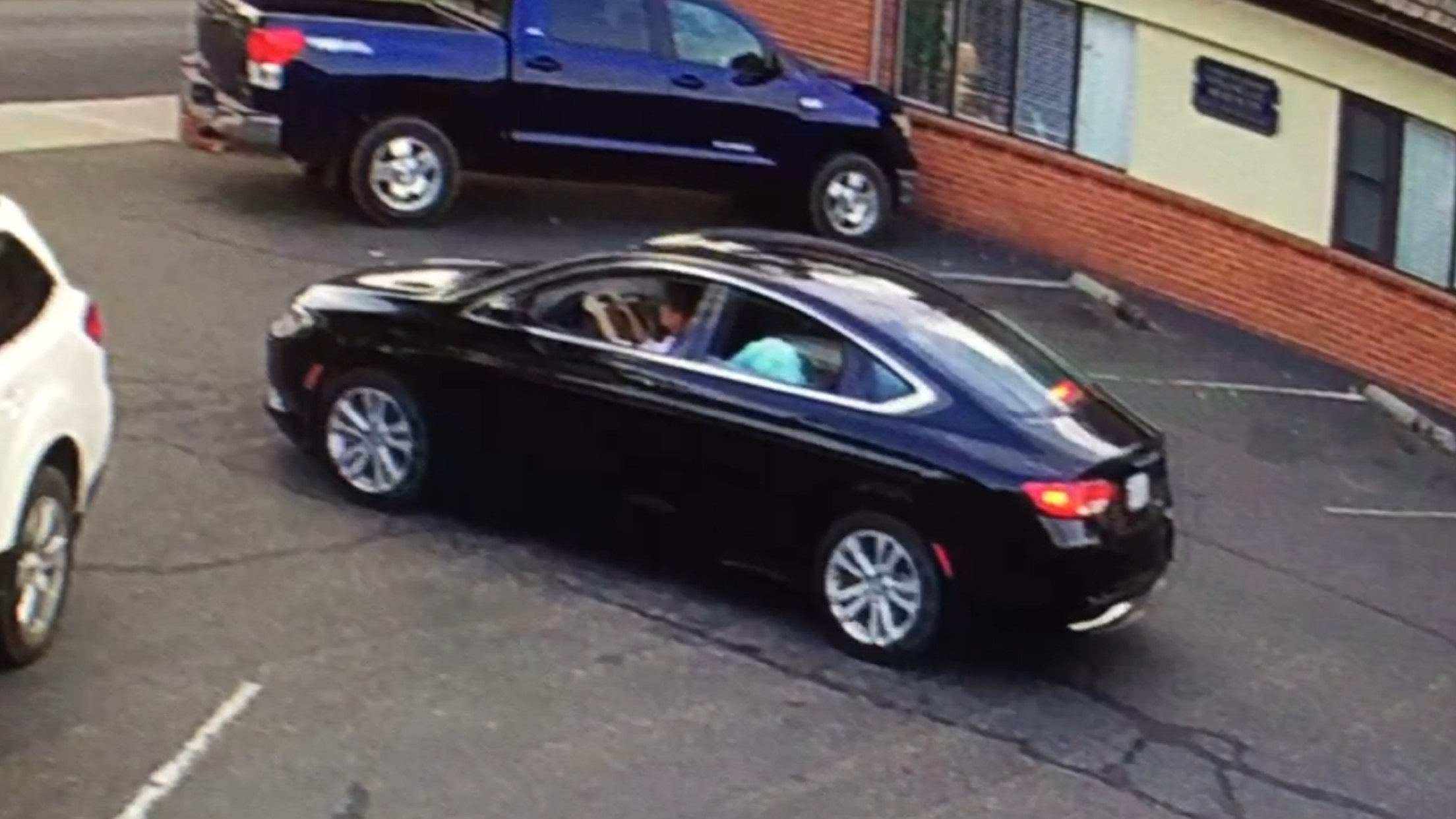 The two were seen in Paris' black 2015 Chrysler 200 with a California license plate number 7NGE514. (Source: SBCSO)