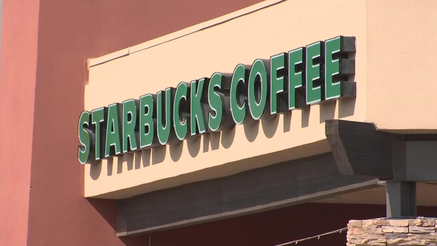 Paris asked a female customer at a Goodyear Starbucks for help. (Source: 3TV/CBS 5)