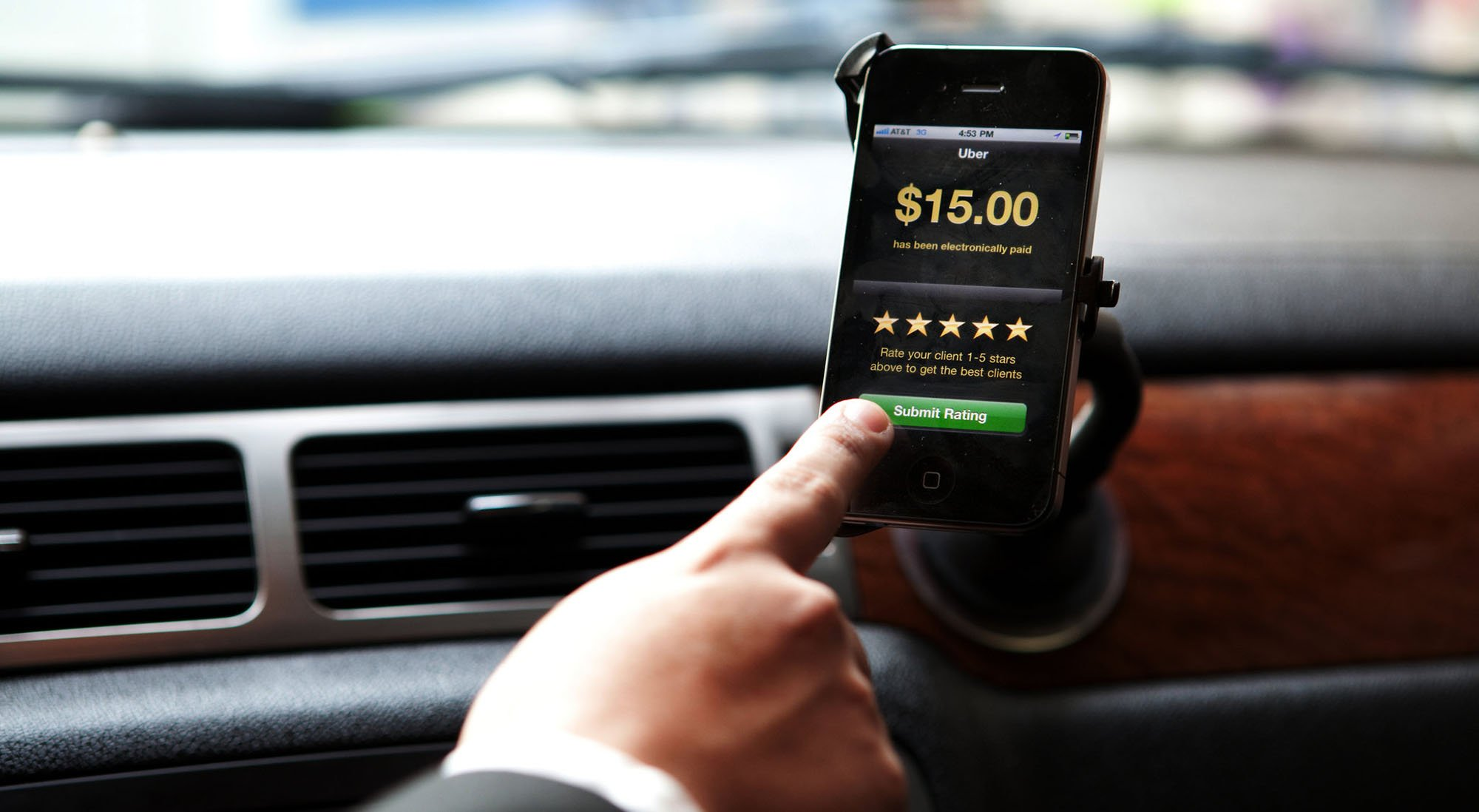 The ride-sharing service Uber is probably the best-known of the gig or sharing economy businesses that use web apps to link consumers to providers who typically work as independent contractors. (Source: Melies The Bunny/Creative Commons)