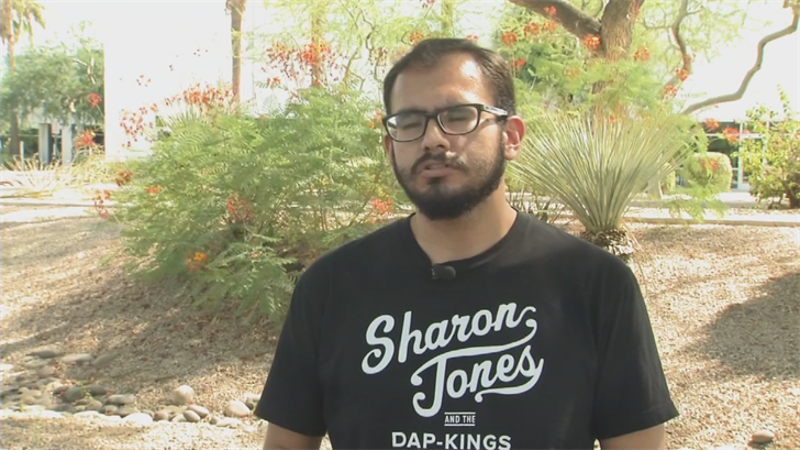 ASU senior Edder Diaz Martinez is hoping that if Trump gets rid of DACA, then Congress will step up and pass a law to keep the program in place. (Source: 3TV/CBS 5)