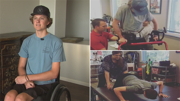 Wyatt Tidwell said he was told he wouldn't walk again but he's already making big strides to getting to that goal. (Source: 3TV/CBS 5)