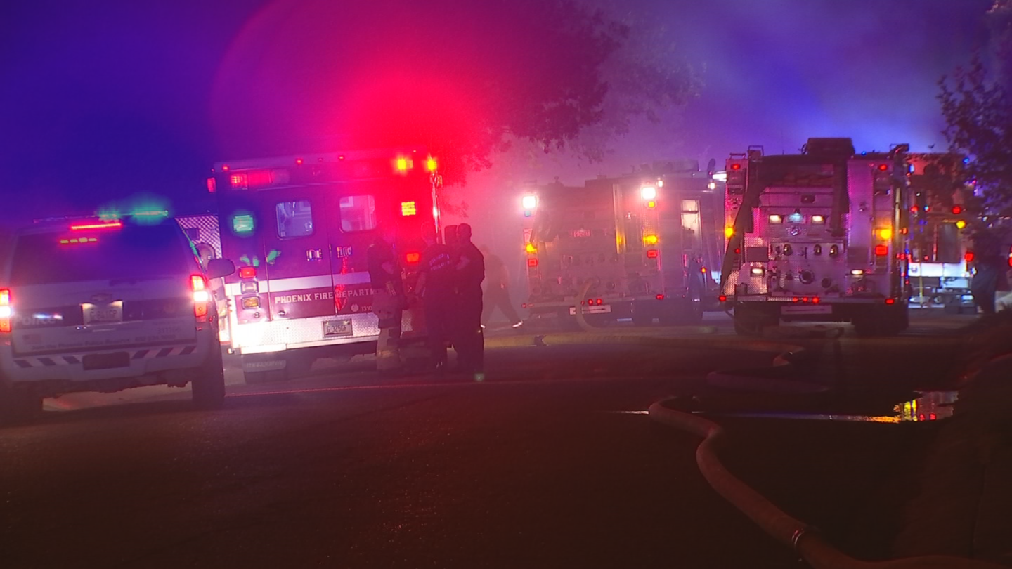 A man was in a house when it caught fire but he escaped through a window. (Source: 3TV/CBS 5)