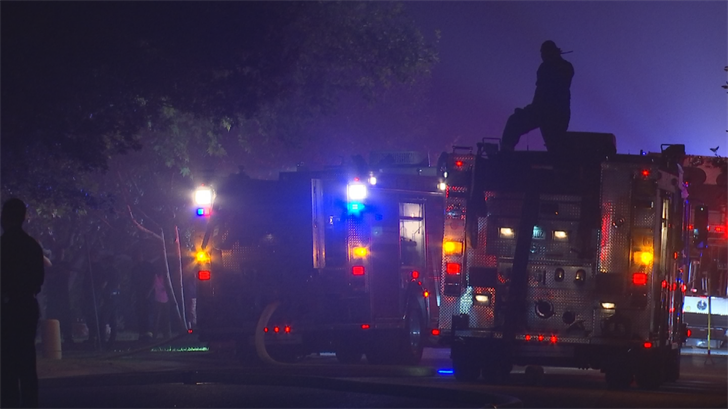 The 49-year-old made it through the front window in order to avoid the flames. (Source: 3TV/CBS 5)