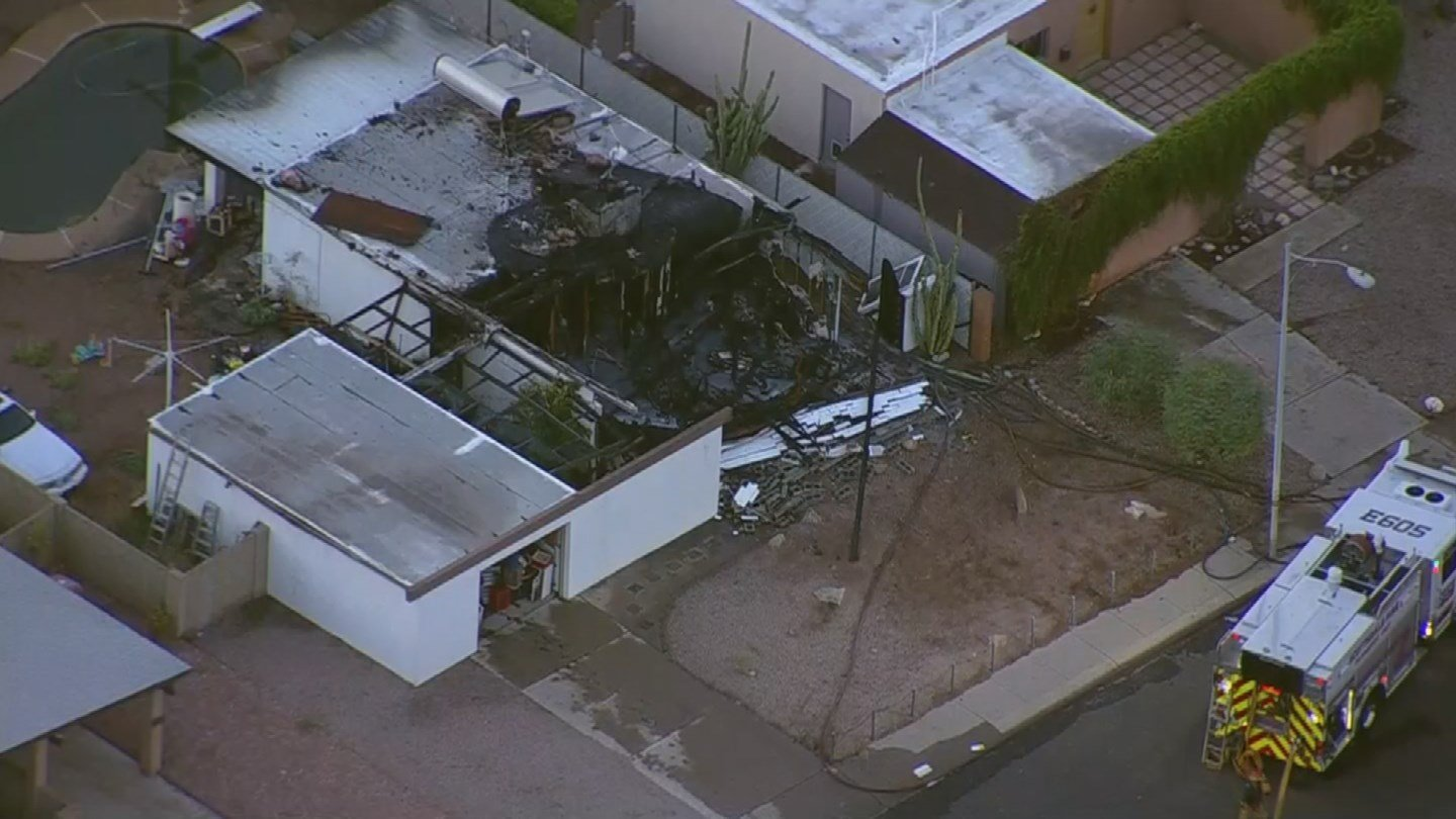 Folio said there were several reports of witnesses hearing an explosion during the fire and one of the walls of the house was blown outward, not inwards, coinciding with the reports. (Source: 3TV/CBS 5)