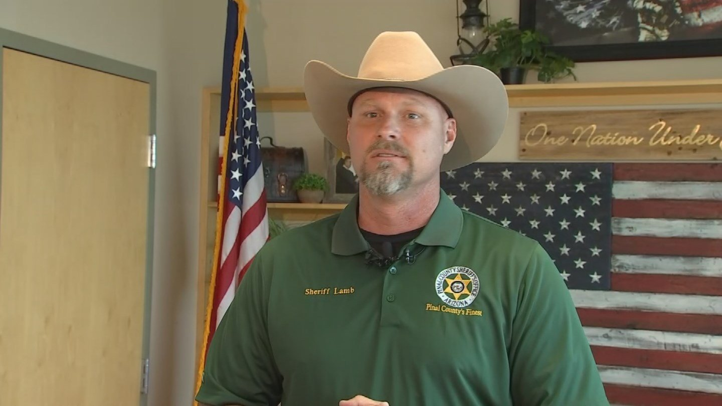 Pinal County Sheriff Mark lamb holds news briefing (Source: 3TV/CBS 5)
