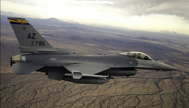 File photo of an F-16 Fighting Falcon (Source: Arizona Air National Guard)