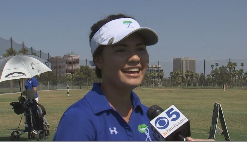 Xavier Prep's Ashley Menne is 15 years old and leading the Xavier Prep golf team. (Source: 3TV/CBS 5)