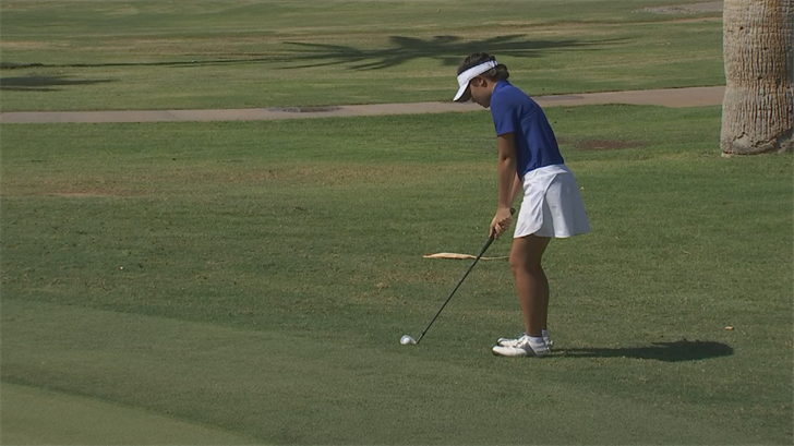 Xavier Prep star Ashley Menne takes aim at another state title. (Source: 3TV/CBS 5)
