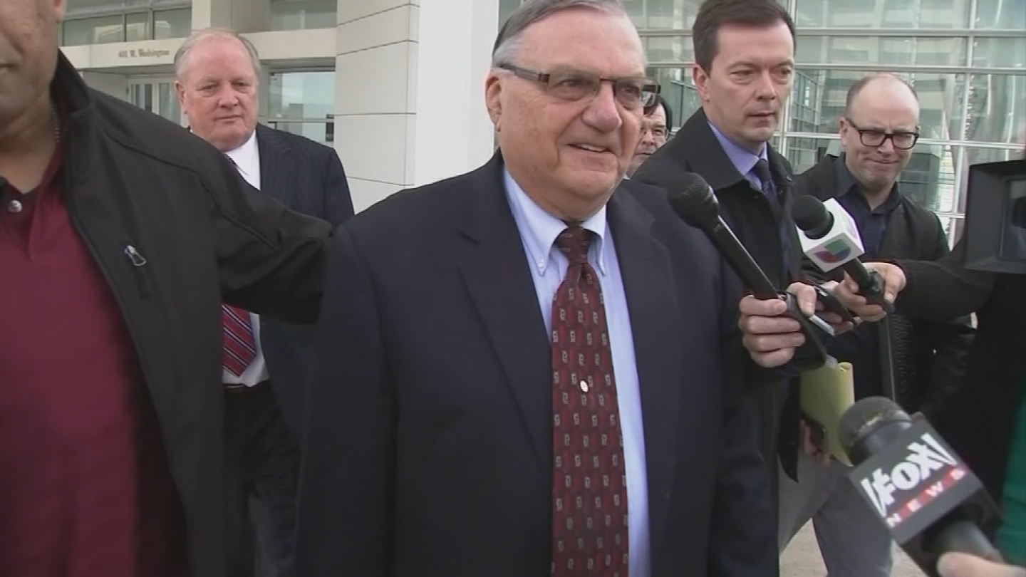 The president recently pardoned the former Maricopa County lawman following his criminal contempt of court conviction.(Source: 3TV/CBS 5)