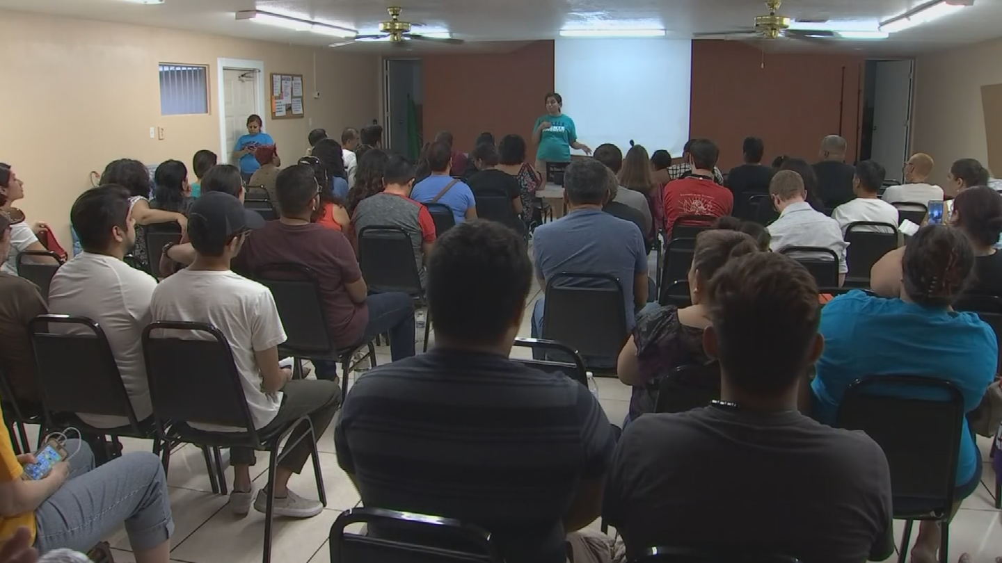 Puente Arizona held a meeting on the winding down of DACA on Tuesday. (Source: 3TV/CBS 5)