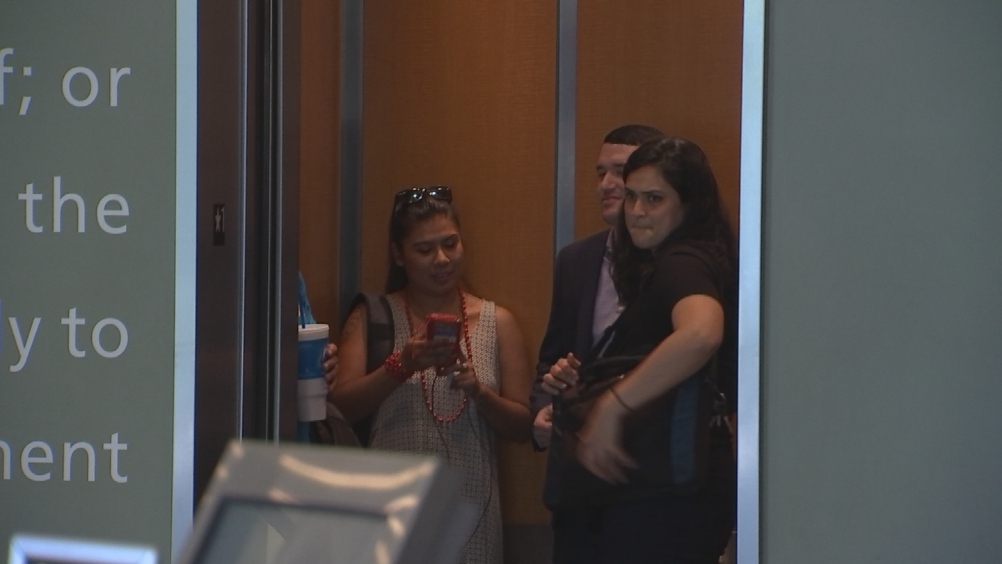 Representatives from Puente, the ACLU and other groups met privately with Chief Williams and Mayor Greg Stanton at Arizona State University before the public meeting. (Source: 3TV/CBS 5)
