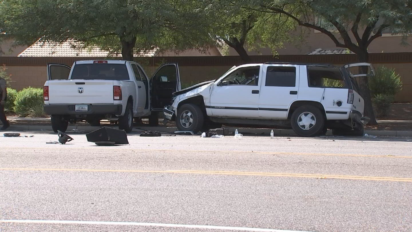 A driver was ejected from his vehicle after a rollover crash. (Source: 3TV/CBS 5)