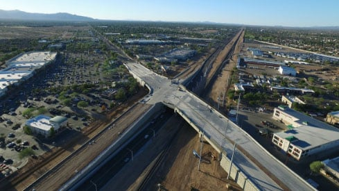 The on- and off-ramps at the Bell Road Bridge over Grand Avenue (US 60) will be closed Sept. 18-24 for roadway improvements both on and near the overpass. (Source: City of Surprise)