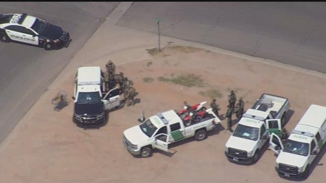 Scene of officer-involved shooting in Casa Grande (Source: 3TV/CBS 5)