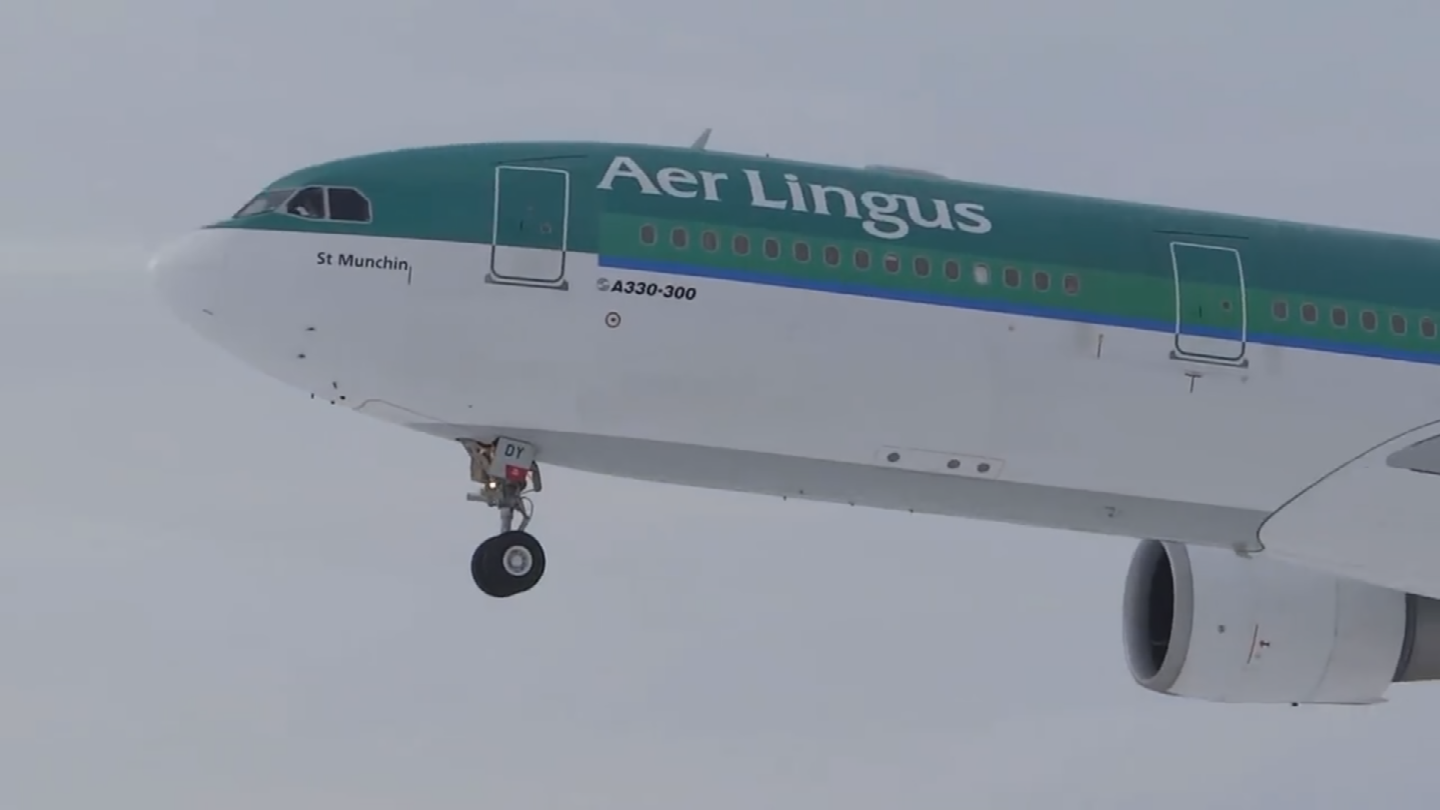 Aer Lingus handed one of the return flights to United Airlines. (Source: 3TV)