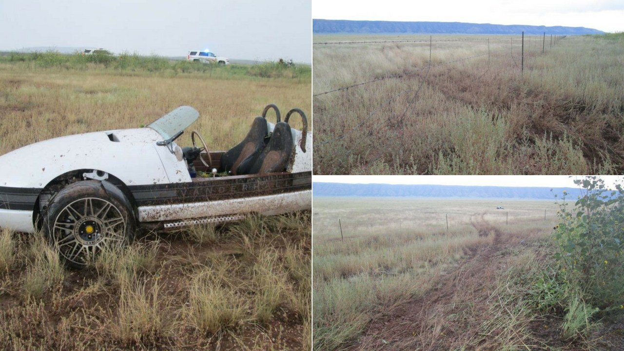 When driving in rough conditions, a 42-year-old man ran off the road and through a barbed wire fence in a motorcycle with a shelled body west of Seligman on Tuesday. (Source: Yavapai County Sheriff's Office)